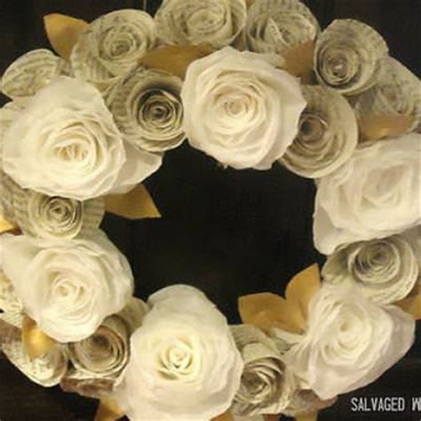 rolled paper flower garland tutorial rolled paper wreath tutorial home decor gift ideas tip