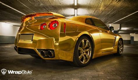 nissan gtr wrapped gold gold wrapped nissan gt r by wrapstyle gtspirit