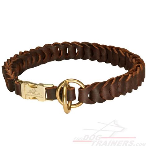 choke collar for dogs buy new leather choke collar for designer braided gear