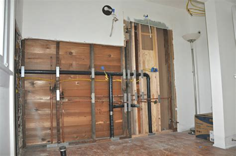 bathroom pipes turning a closet into a bathroom literally house updated