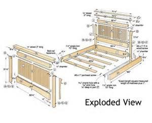 Bed Frame Building Parts Captains Bed Plans