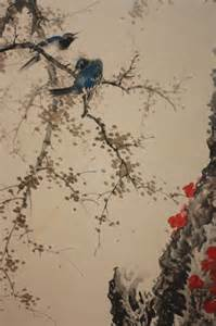 japanese painting birds cherry blossoms or hell classical japanese