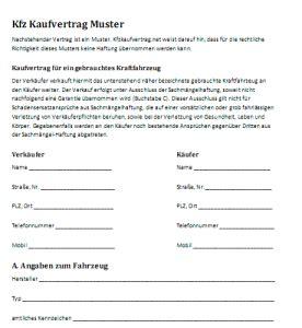 Kaufvertrag Auto Zum Ausf Llen by Mechanismus In Autos Kaufvertrag Autoscout24 Privat