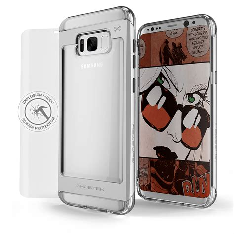 Invisible Armor Tpu Screen Guard Samsung Galaxy S8 galaxy s8 ghostek 174 2 0 silver series w explosion proof screen p