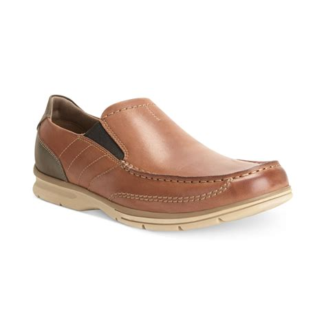 clarks loafers for clarks rattlin port loafers in brown for lyst
