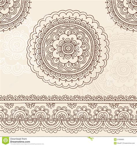 henna tattoo designs eps henna mehndi mandala doodle vector design elements stock