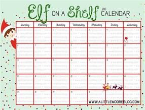 blank on the shelf calendar a