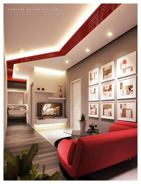 living room red airanah design salle de s 233 jour