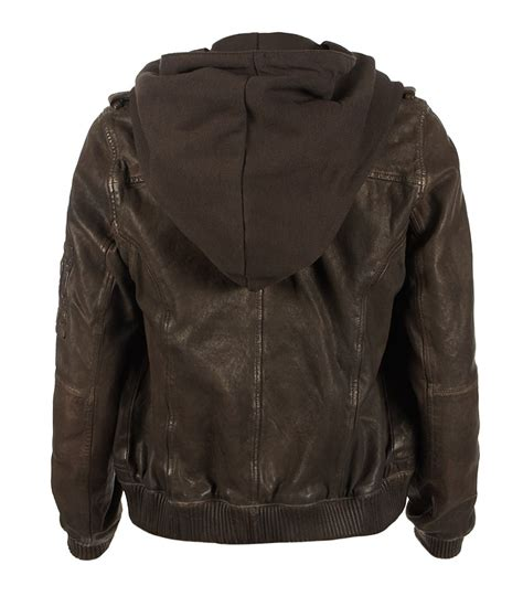 Roberto Bomber Jaket Anya Awkarin allsaints clyde leather jacket in brown lyst