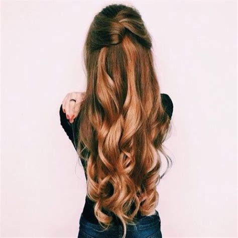 Half Pinned Hairstyles by Pinned Half Up Half With Curls Pictures Photos