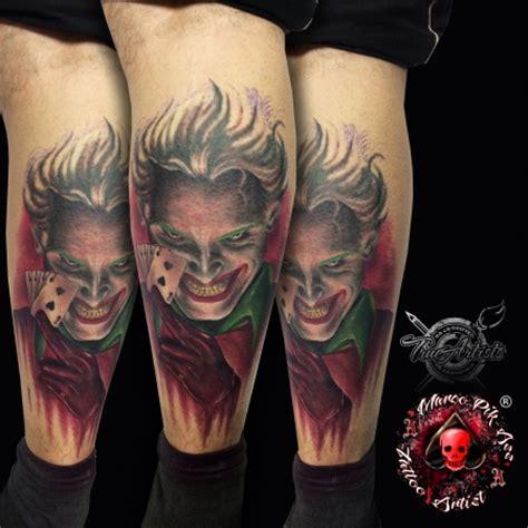 tattoo joker vorlagen marco pikass joker portrait farbig tattoos von tattoo