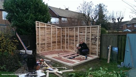 Sheds From Pallets by The Pallet Shed Workshop Studio From In Back Garden Owned