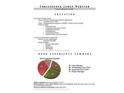 Resume Examples For Any Job by Reinveting The Archaeology Cv Resume Ii Doug S Archaeology