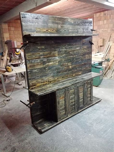 center of woodwork wood pallets made entertainment center tv stand pallet
