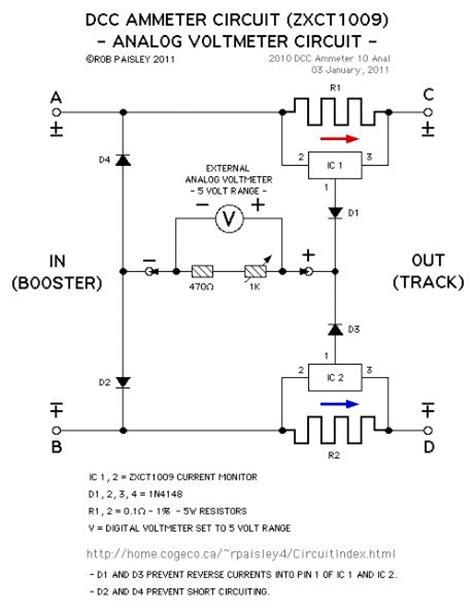 analog or digital voltmeter basic circuit circuit