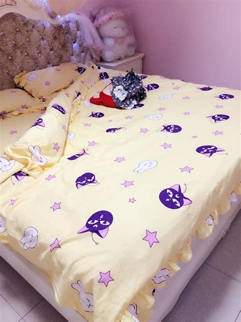 sailor moon bed sheets sailor moon yellow pink tsukino usagi futon bed sheets