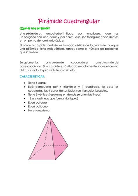 pirámide de base cuadrada pir 225 mide cuadrangular
