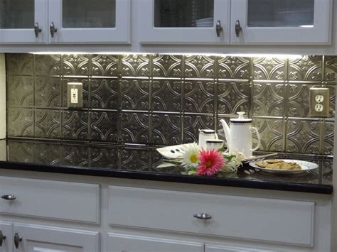 easy backsplash for kitchen 17 best images about tin backsplashes on
