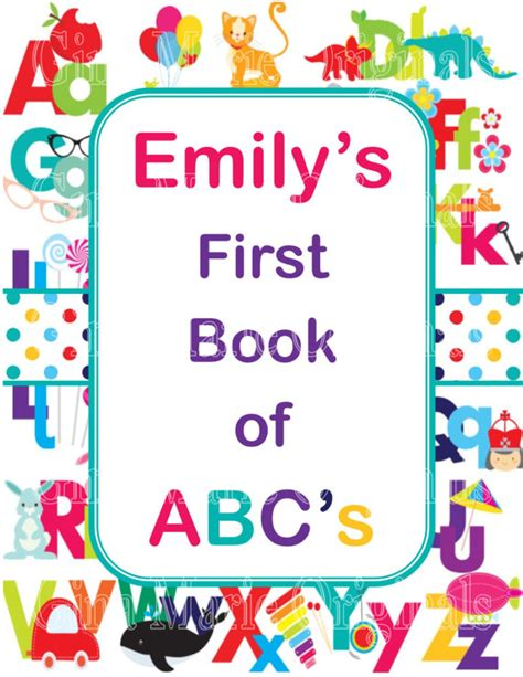 personalized printable baby shower abc activity book