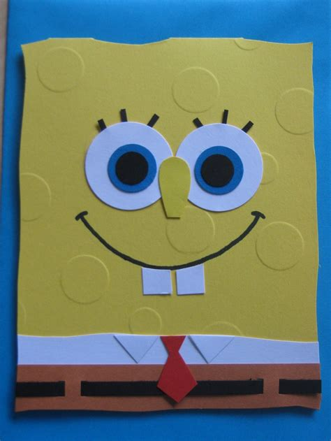 Spongebob Birthday Card Kartun Card Spongebob