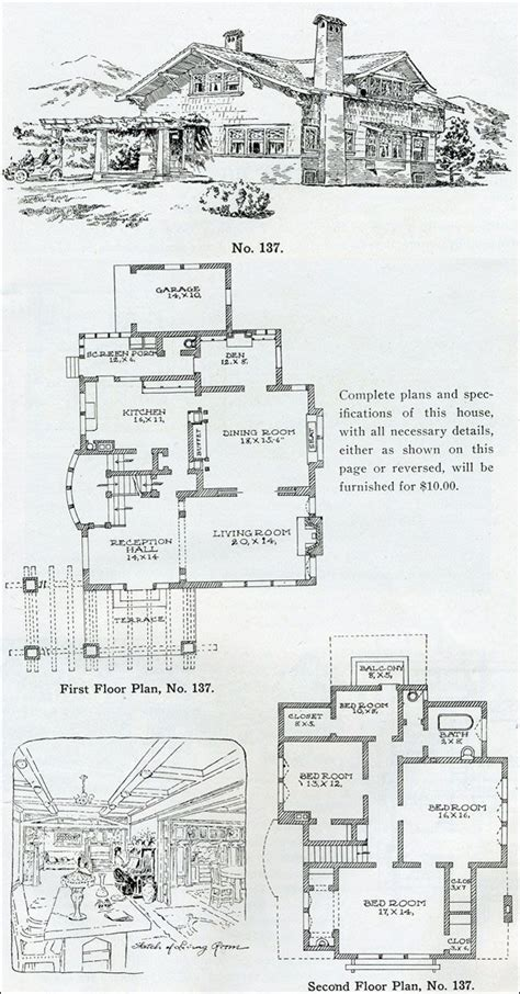 Swiss Chalet Floor Plans by 339 Best Vintage Home Plans Images On Vintage
