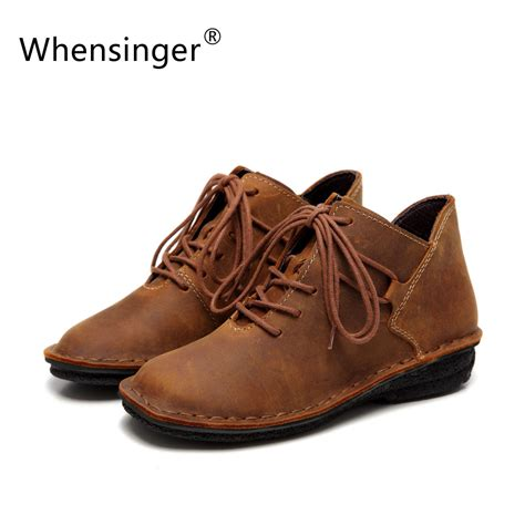 Whensinger 2017 Leather Shoes Handmade - aliexpress buy whensinger 2017 shoes