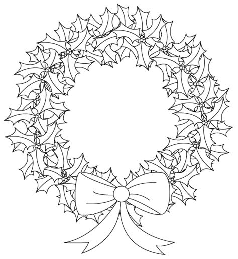holly wreath coloring page holly wreath colouring pages pinterest