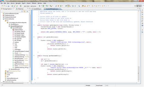 java split pattern quote android development 101 part 4 advanced database gui code