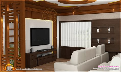 tv room house interior design kannur kerala home and