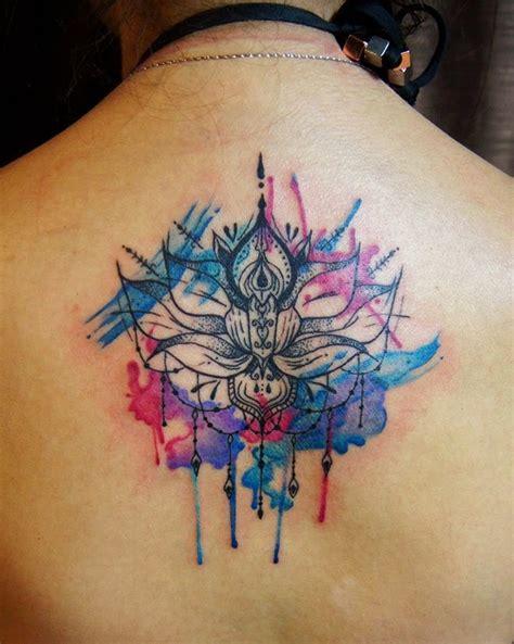 watercolor tattoo upper back 36 mandala lotus tattoos ideas