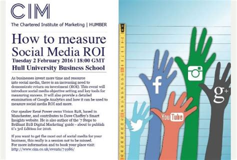 Mba How To Measure Repeat Business by How To Measure Social Media Roi Cim Event Humber Business