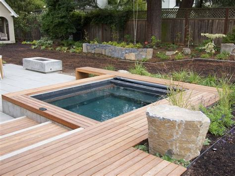 backyard yard layout and hottub pools fountains hot tubs pinte