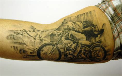 bike tattoo biker motorcycle tattoos