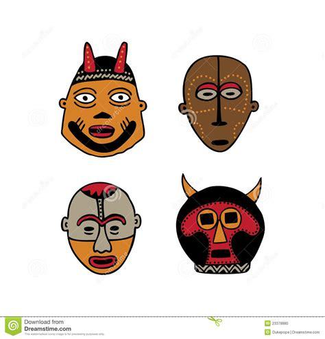 Masker Vir afrikaanse maskers stock foto beeld 23378880
