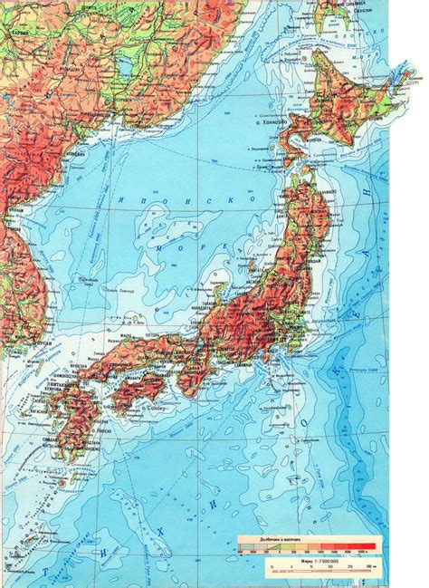 physical map of japan maps of japan detailed map of japan in tourist