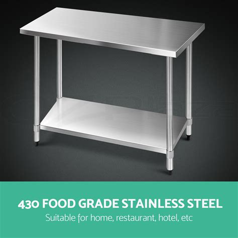 stainless steel work bench tops 1219x610mm commercial 430 stainless steel kitchen work