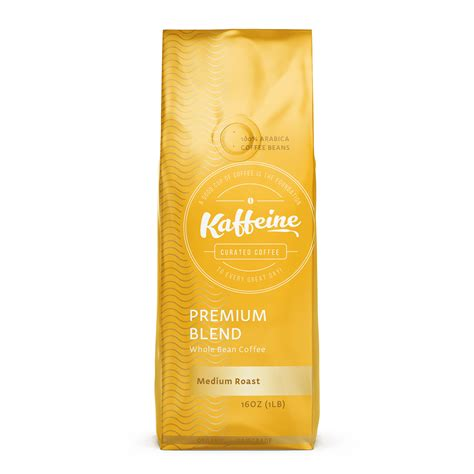Premium Blend Medium Roast 2 lb Whole Bean Organic Coffee ? Kaffeine Koffee