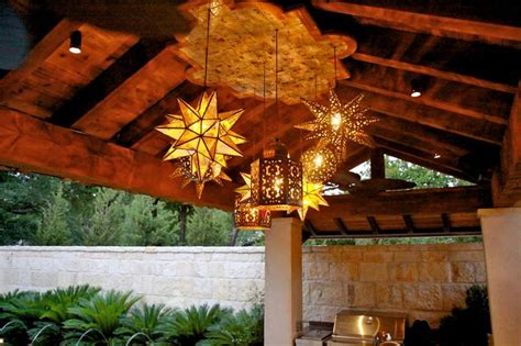 Mexican Patio Lights To Use As Drop Lights Instead Of Pendant Lights In Our