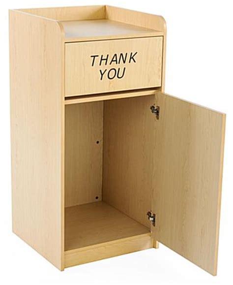 Restaurant Cupboards Restaurant Trash Cabinet Maple Melamine Finish