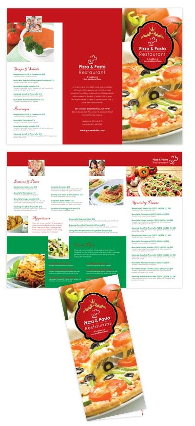 italian restaurant menu template 17 best images about brochure food on asian
