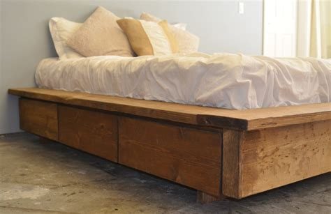 Rustic Platform Bed With Drawers by Platform Bed With Drawer Storage La Plata