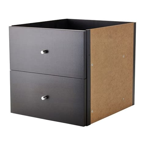 ikea kallax kisten kallax insert with 2 drawers black brown ikea