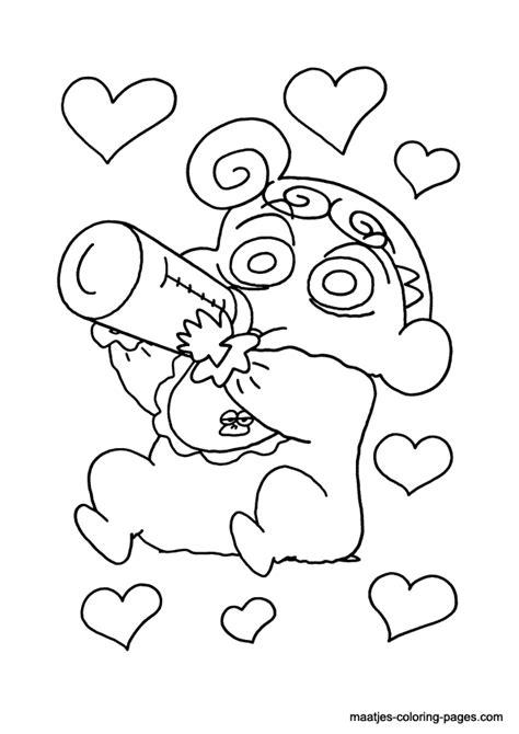 Shin Chan Coloring Page Shin Chan Coloring Pages