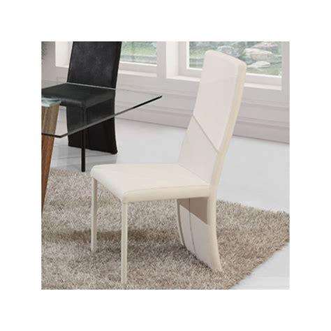 lot de 4 chaises blanches lot de 4 chaises blanches lilou salle 224 manger