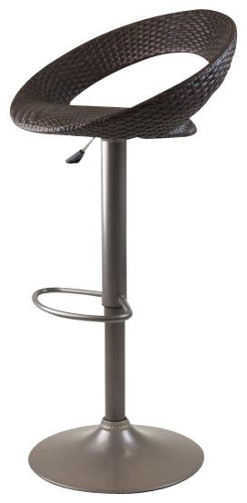 Ersand Airlift Stool by Rattan Bali Adjustable Airlift Stool With Woven Seat
