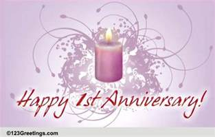 1st wedding anniversary free milestones ecards greeting cards 123 greetings
