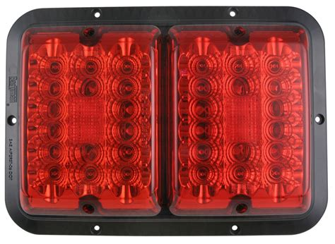surface mount trailer tail lights bargman led surface mount double tail light 84 85