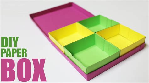 How To Make Paper Boxes With Lids - how to make a paper storage box diy storage box with lid