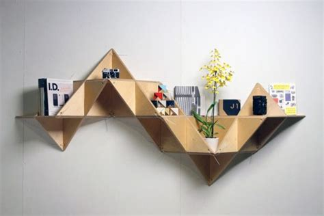 Origami Bookcase - explore unique and unconventional designs inspired by origami