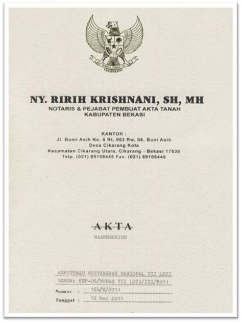 Buku Contoh Akta Notaris Dan Akta Di Bawah Tangan Buku Iii Herlinaar bukti legalitas ormas ldii ldii surabaya